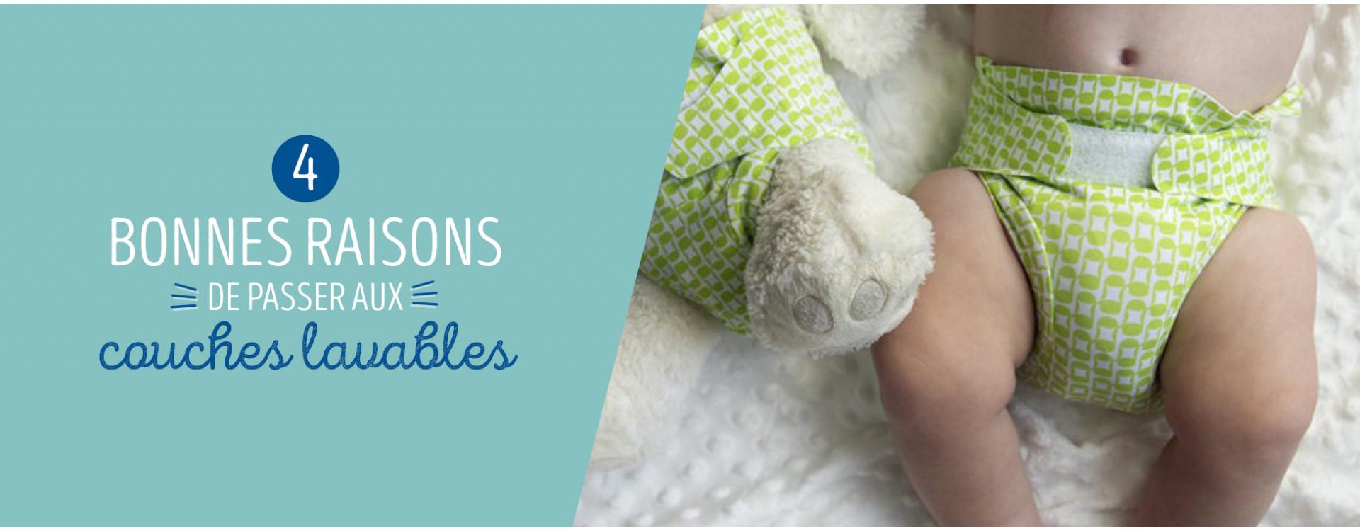 4 Bonnes raisons de passer aux couches lavables