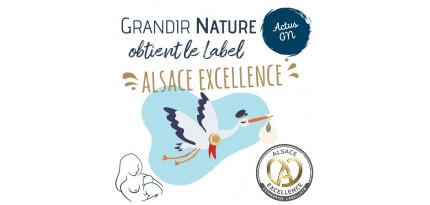 Grandir Nature est labellisé Alsace Excellence !